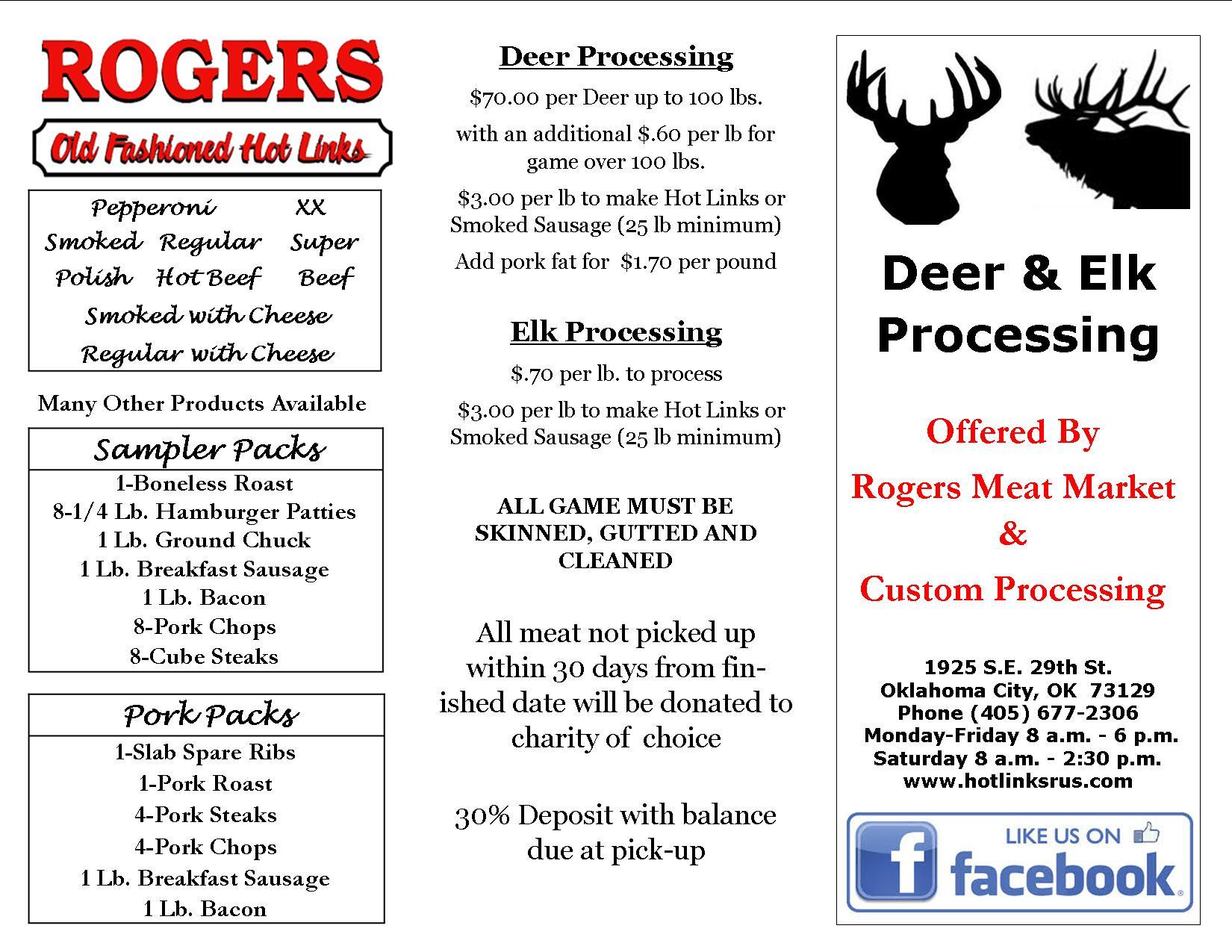 Deer/Elk Processing