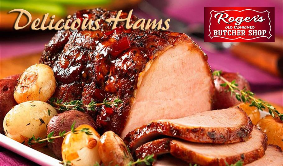 Roger's Butcher Shop Hot Links Ham Steak Beef Pork